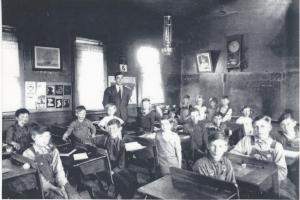 My Grandpa in his school room in 1937
