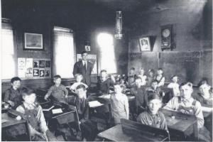 My Grandpa in his school room in 1937