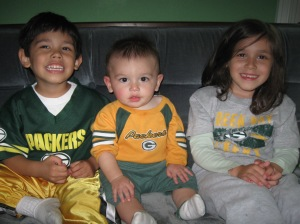 You're happy when the Packers win!
