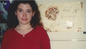 Me on my 18th birthday, a month before I moved into my first apartment
