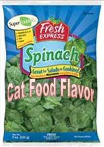 Cat Food Flavored Spinach