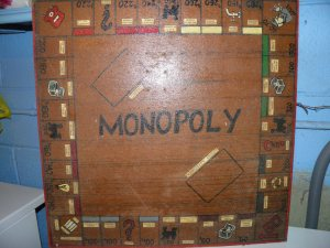 My homemade Monopoly board