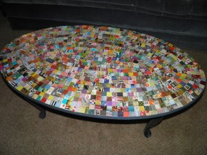 The coffee table redone