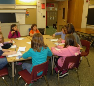 My Girl Scout Troop writing letters for Operation Smile
