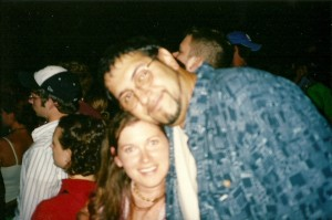 My husband and I at a Dave Matthews concert