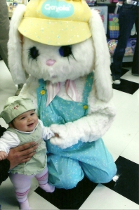 Iris with the Easter Bunny in 2006
