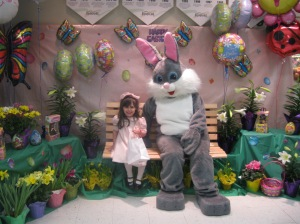 Iris with the Easter Bunny 2010