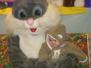 Cesar's first visit with the Easter Bunny in 2011