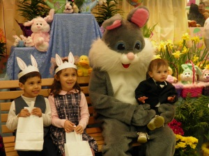 The kids with the Easter Bunny 2012