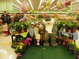 The kids with the Easter Bunny this year!
