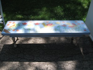 I like to find pieces of furniture on the side of the street and repaint them and sell them at my rummage sales!