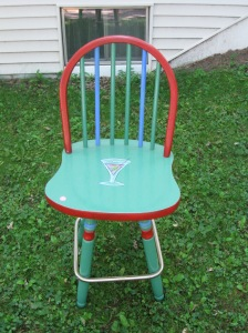 You never know who might want one hand painted bar stool!