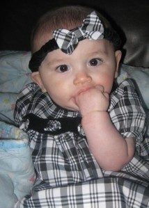 Dress them up in girl baby clothes...This is Cesar at 6 months old