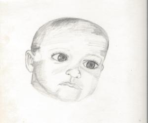 A drawing of one of my nephews