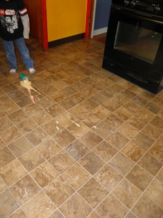 Spills everywhere!