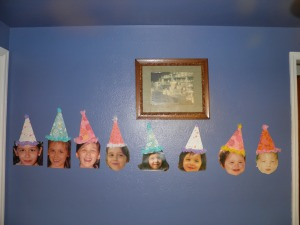 This is pictures of Iris birth to present day except I somehow managed to forget age 4!!!