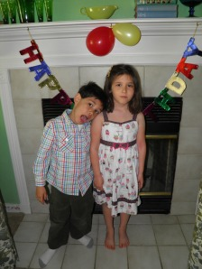 Iris and her brother Bency! This picture cracks me up!