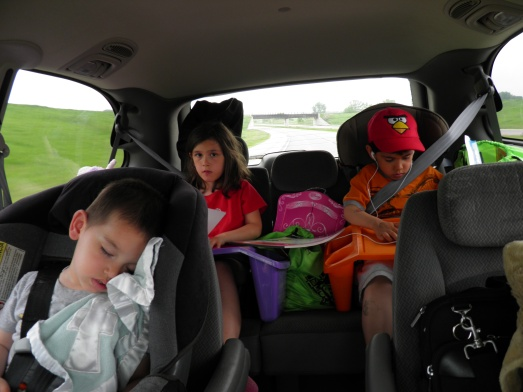 I wish I could say this is what the whole car ride looked like but it didn't!