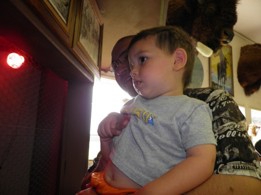 """Cesar is thinking, """"No 2 year old should be subjected to something this scary."""""""