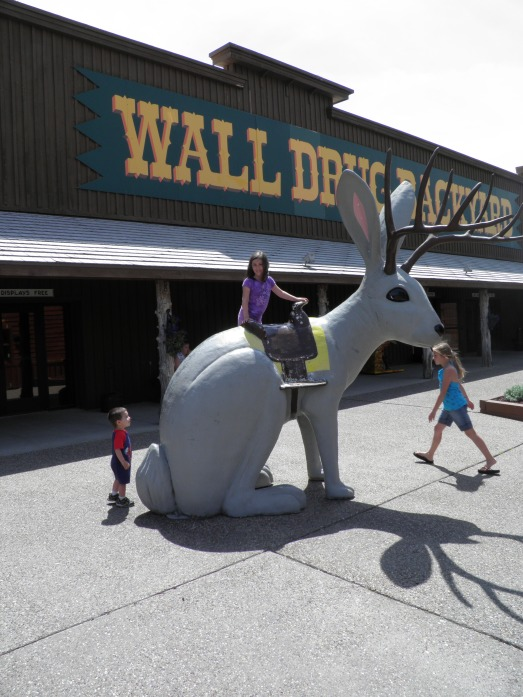 I'm pretty sure this is the only place in the world that you can have your picture taken with a huge jackrabbit with a saddle on it's back!