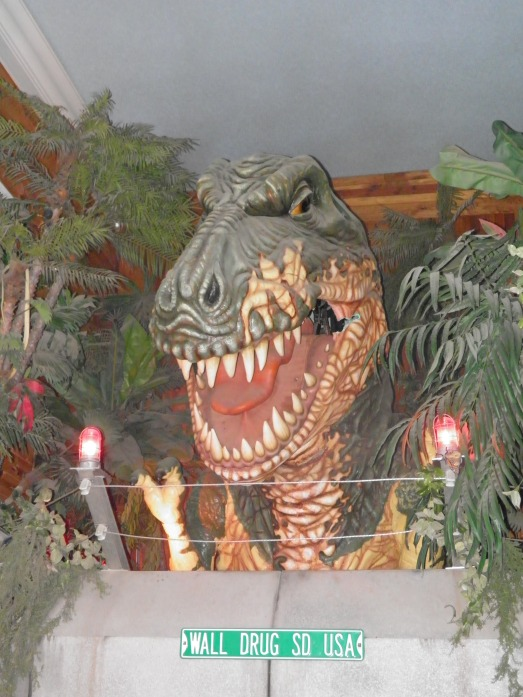This giant T-Rex that roars, his eyes light up and his head moves has turned my 2 year old into a dinosaur hater!