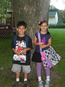 My brother Bency and sister Iris