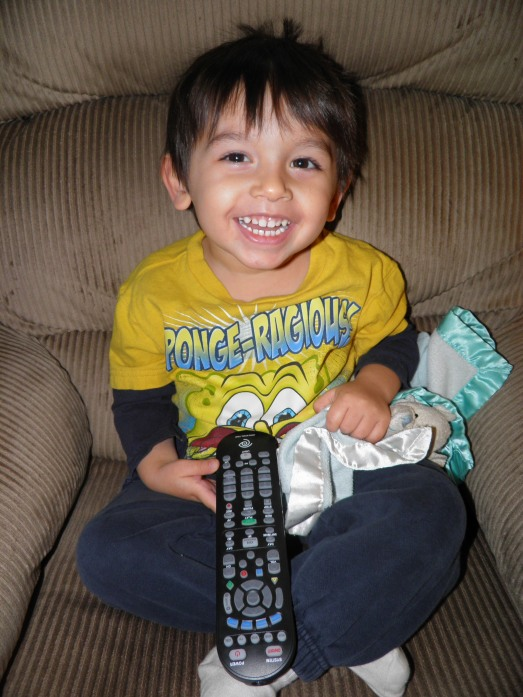 Thankfully I got the remote cleaned up so my son can watch television again!